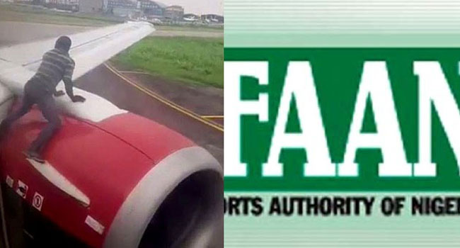 FAAN Reveals Identity Of Man Who Climbed Aircraft At Lagos Airport - Channels Television
