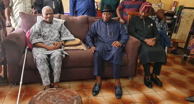 Olakunrin's Murder: Ex-President Jonathan Visits Pa Fasonranti