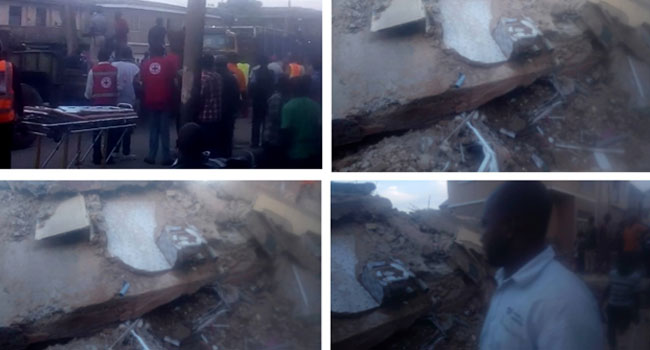 Many Trapped As Building Collapse In Jos, Rescue Operations Ongoing