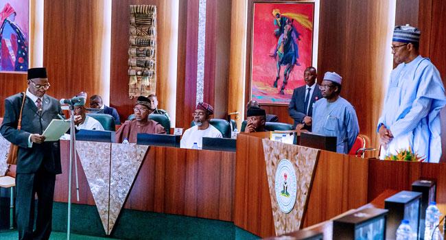 PHOTOS: Buhari Swears-In Tanko Muhammad As New CJN