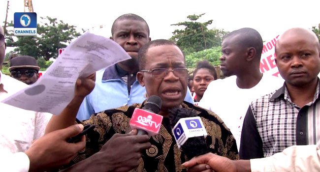 Protesters Demand Issuance Of Certificate To Imo North District Senator-Elect
