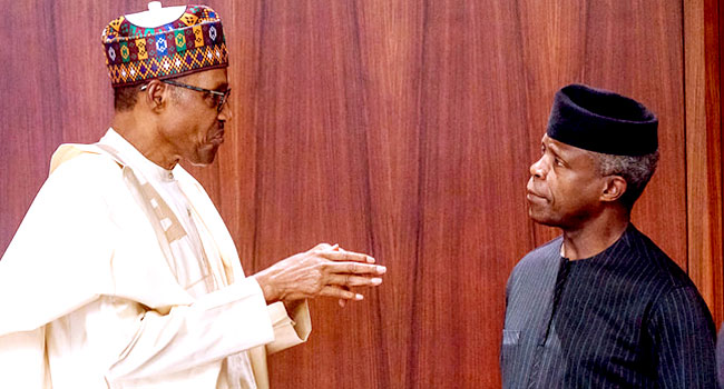 Buhari Speaks About Sacking Of Osinbajo's Aides, Insists It Is Not Political