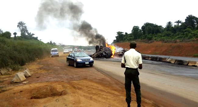 Four Sustain Injuries After Tanker Accident In Ogun