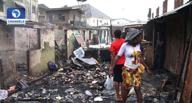 Traders Lament As Fire Destroys Shops In Ojodu Market - Channels Television