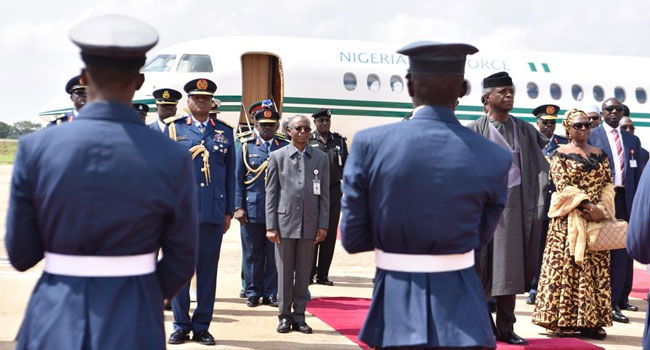 Osinbajo Attends NAF Passing Out Parade In Kaduna - Channels Television