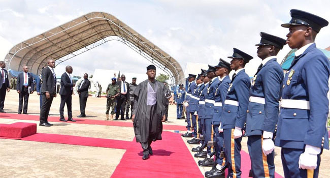 Osinbajo Urges New Military Officers To Intensify Efforts Against Insecurity