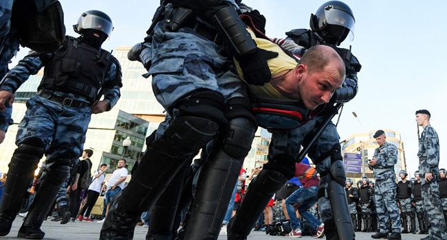 1,400 Arrested At Moscow Election Protest – Reports