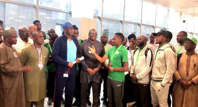 Super Eagles Return To Nigeria After 2019 AFCON Campaign