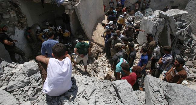 Regime Air Strikes Kill 10 Civilians In Northwest Syria