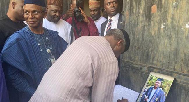 PHOTOS: Osinbajo Pays Condolence Visit To Family Of Late Precious Owolabi
