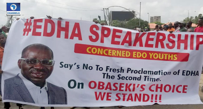 Edo Youths Protest Against Move To Shut Down Assembly