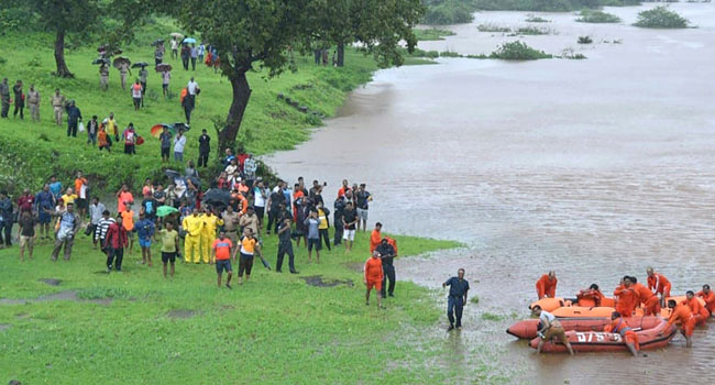 Helicopters Rescue Passengers On Stranded Indian Train