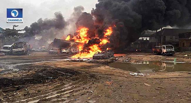 Buhari Condoles With Lagos Pipeline Explosion Victims, Warns Against Vandalism