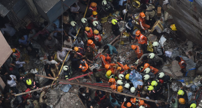 Two Dead, Over 40 Trapped In Mumbai Building Collapse