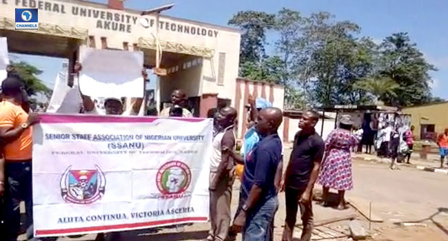 SSANU Members Protest In Ondo, Call For Improved Welfare