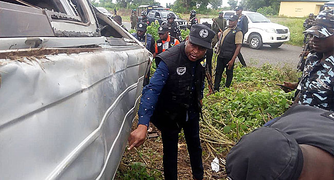 Investigative Panel Visits Scene Where Police Officers Were Killed