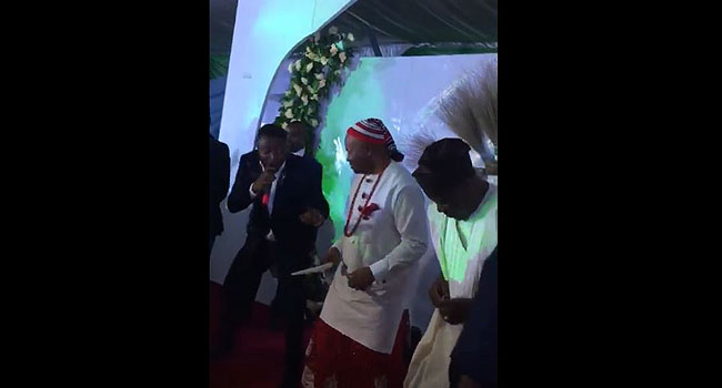 Akpabio Gyrates With MC Galaxy After Ministerial Appointment