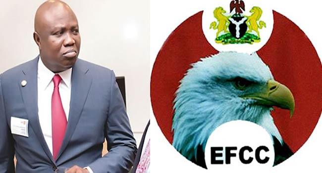EFCC Accuses Ambode's Supporters Of Injuring Three Officials, Damaging Vehicle