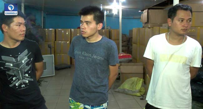 Chinese Nationals Arrested For Operating Illegal E-Waste Factory In Lagos