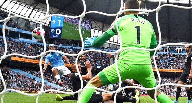 Aguero Stars As Man City Beat Brighton