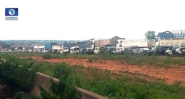 Image result for Protesting drivers block Kaduna-Abuja highway