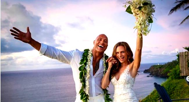 Dwayne Johnson Shares Photos From His Wedding In Hawaii