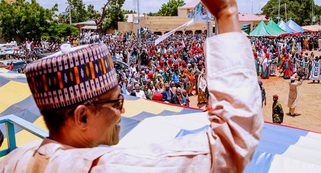 PHOTOS: Buhari Attends El-Kabir Prayers In Daura