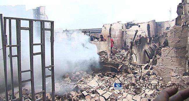 Fire Guts Spare Parts Market In Edo