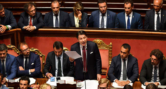 Italy's PM Conte Resigns, Heads Caretaker Govt