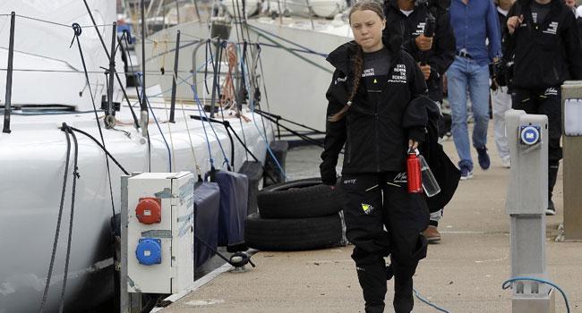 Climate Activist Greta Thunberg Sets Sail For NYC