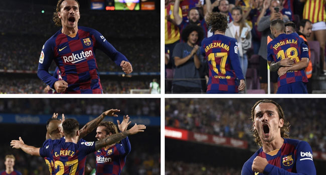 Griezmann Nets Brace As Barca Put Five Past Betis