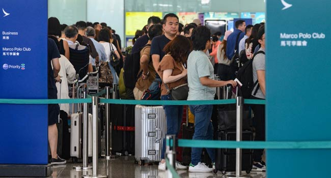 More Than 100 Flights Cancelled As Hong Kong Goes On Strike