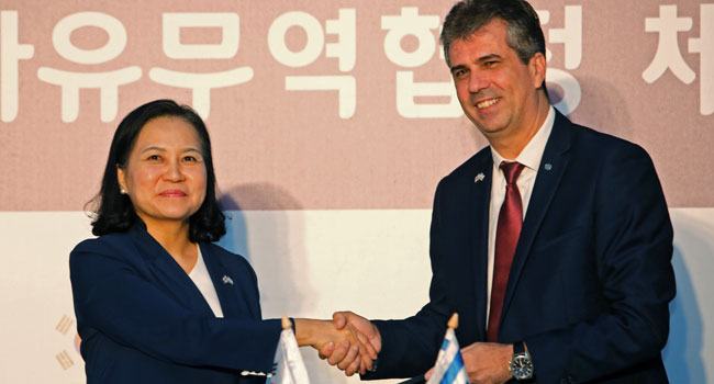 Israel, South Korea Announce Free-Trade Deal