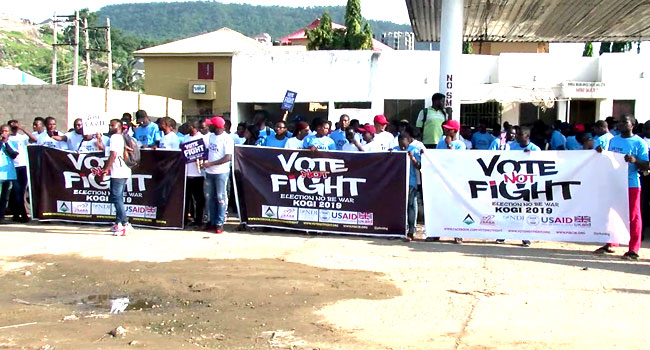 Kogi Youths March, Demand Peaceful Governorship Election