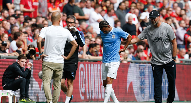 Man City's Sane To Undergo Surgery Over Crucial Ligament Tear
