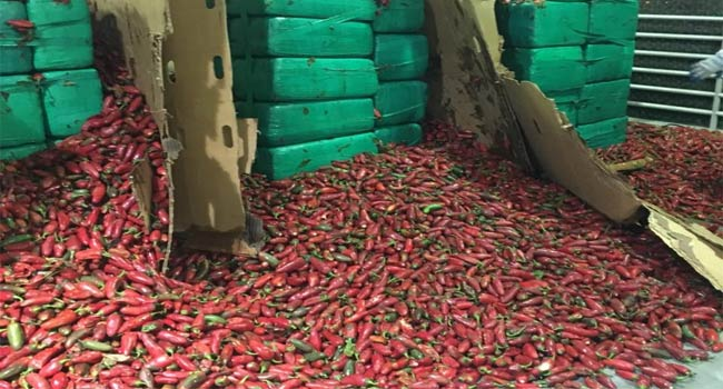 Customs Seize Four Tons Of Marijuana Hidden Among Peppers