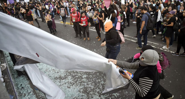 Hundreds Of Mexican Women Protest Police Rape Of Teenager