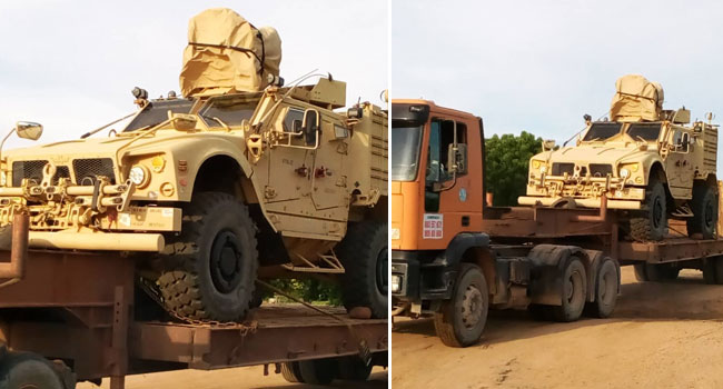 Security Operatives Intercept Six Mine-Resistant Military Vehicles In Adamawa