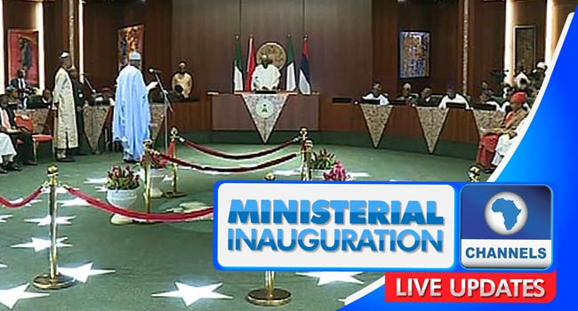LIVE UPDATES: Buhari Swears In Ministers