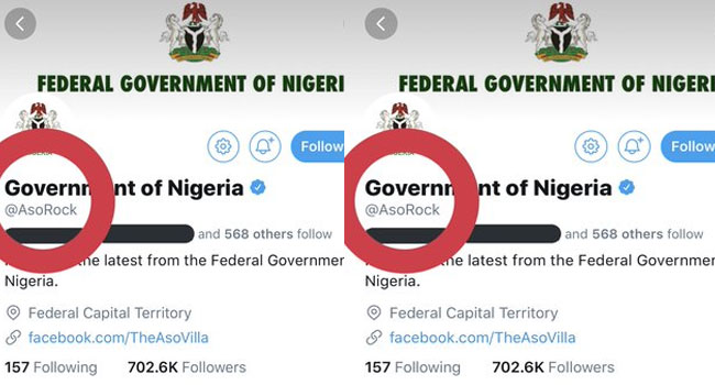 Nigerian Govt Changes Name Of Twitter Handle