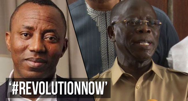 #RevolutionNow: Does Sowore Want Nigerians To Make Him President – Oshiomhole
