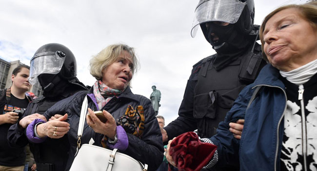 Hundreds Detained At Moscow Opposition Protest