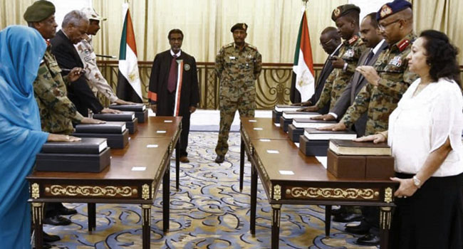 Sudan Sovereign Council Chairman Sworn In