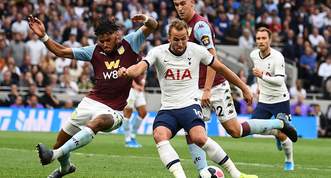 Kane's Double Seal Aston Villa Win For Tottenham