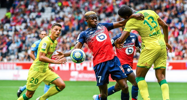 Super Eagles star reacts after scoring brace in Lille debut