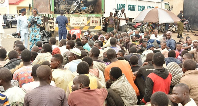 Lagos Intercepts Truck Carrying Motorcycles, 123 Persons
