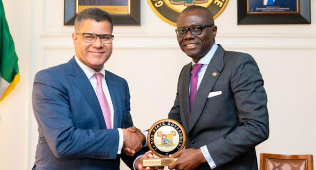 PHOTOS: UK Minister Of State For International Development Visits Sanwo-Olu - Channels Television