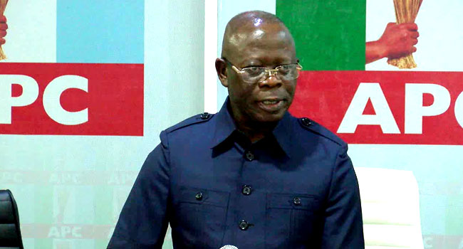 Edo APC Suspends National Chairman, Adams Oshiomhole