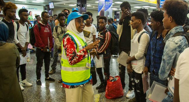 Image result for children from libya arrive at rwanda
