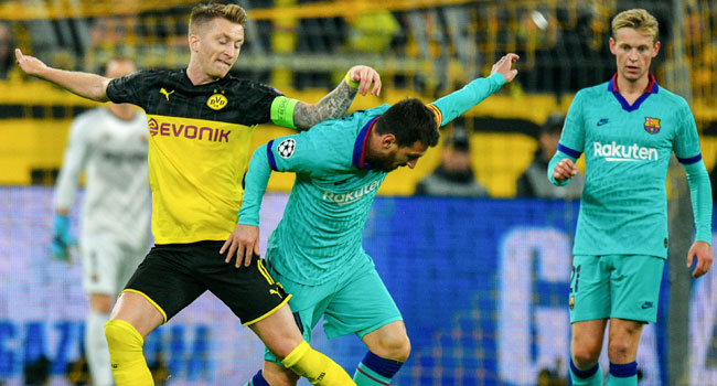 Messi Back As Dortmund Frustrate Barcelona In Champions League Opener